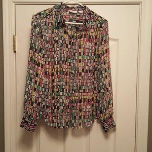 Liz Claiborne multi colored blouse